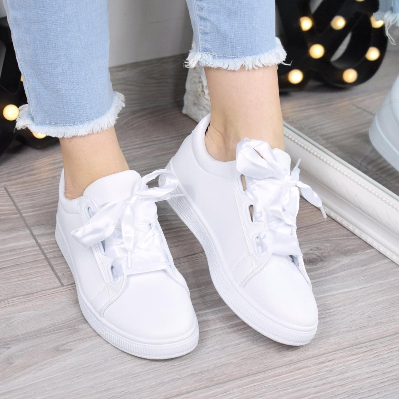 Кроссовки криперы под Puma Rihanna Suede белые 3426, спортивная обувь 73c230d3a9a