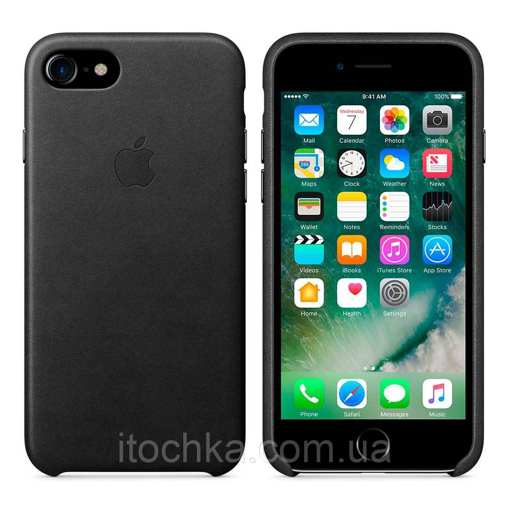 Apple iPhone 7 Leather Case Black MMY52