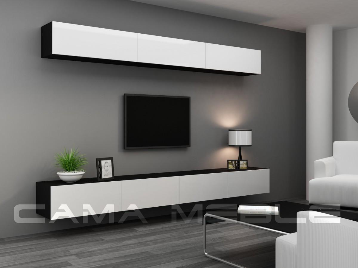 Гостиная Vigo 13 Cama черный/белый глянец