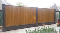 Модульный забор бетонный