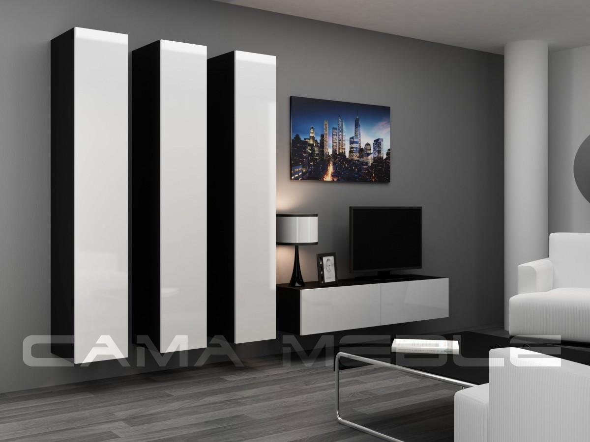 Гостиная Vigo XIV Cama черный/белый глянец