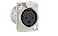 Разъем XLR розетка 3 контакта D серия Gira (3600)