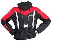 Мото куртка LEATT GPX Adventure черно-красная (съемные рукава) для езды на мотоцикле в холодное время
