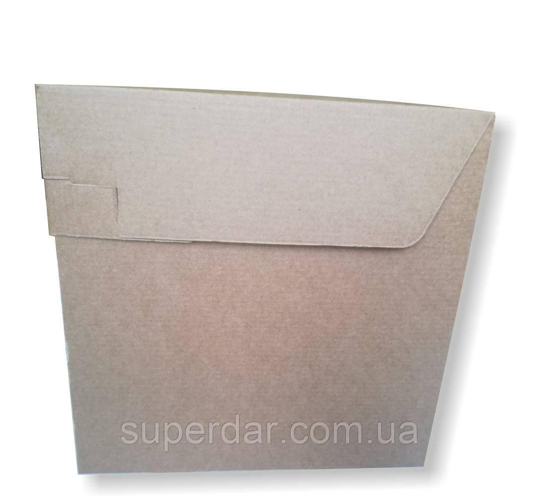 Коробка для торта, 250х250х250 мм, бурая