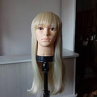 Парик искусственный длинный блонд