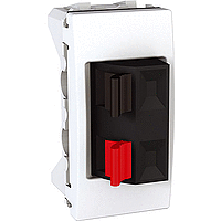 Аудио розетка 1-модульная Schneider Electric Unica Белый (MGU3.487.18)