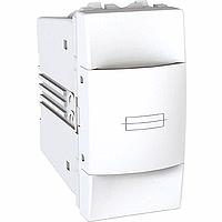 Блок предохранителей 10А Schneider Electric Unica Белый (MGU3.630.18)