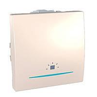 """Выключатель """"Свет"""" одноклавишный с подсветкой Schneider Electric Unica Слоновая Кость (MGU3.206.25LN)"""