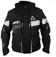 Мото куртка LEATT GPX W.E.C. черно-белая водостойкая легкая курткая для эндуро/кросс