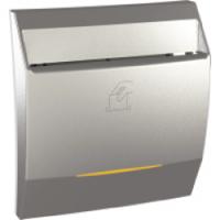 Выключатель карточный с индикацией и задержкой времени 8А Schneider Electric Unica Алюминий (MGU3.540.30)