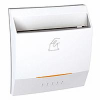Выключатель карточный с индикацией и задержкой времени 8А Schneider Electric Unica Белый (MGU3.540.18)