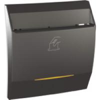 Выключатель карточный с индикацией и задержкой времени 8А Schneider Electric Unica Графит (MGU3.540.12)