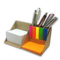 Канцелярский набор с блоком для заметок типа Post-it и закладками  РЕТ