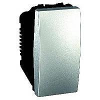 Выключатель одноклавишный 16А Schneider Electric Unica Алюминий (MGU3.161.30)