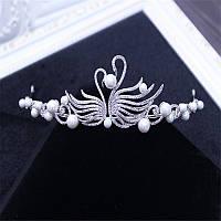 Свадебная корона диадема ДЕЛЬФИНА Тиара Виктория нежная диадема для волос