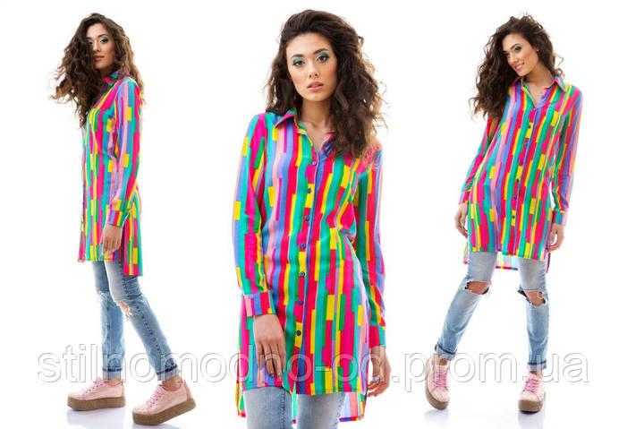 Платье рубашка абстракция