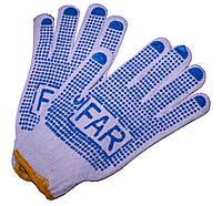 """Перчатки рабочие (х/б) """"Far"""", для бытовых и садовых работ"""
