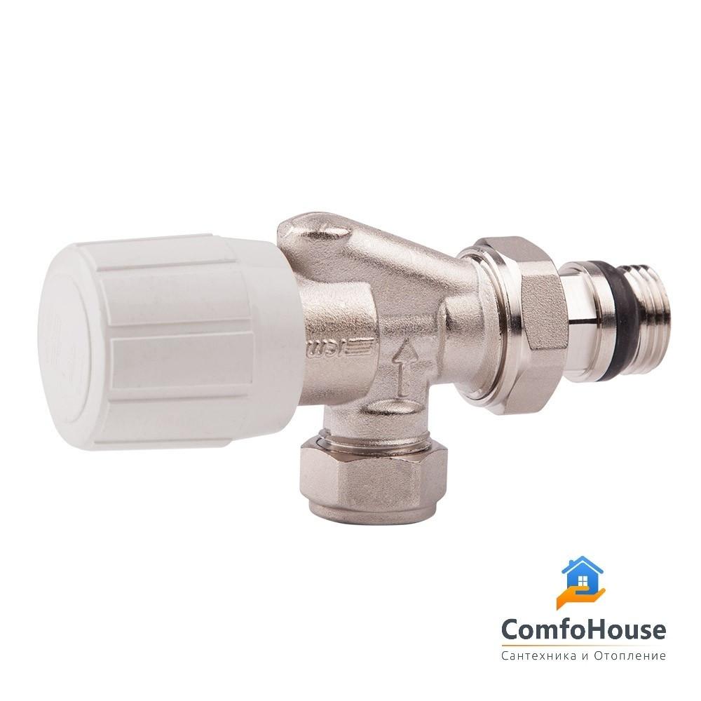 Двухугловой вентиль, с возможность установки термоголовки icma - арт.870