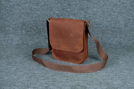 Мужская сумка через плечо |10112| Коньяк