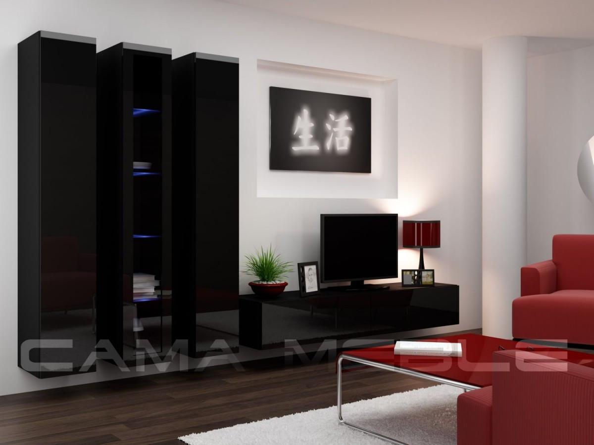 Гостиная Vigo II Cama черный/черный глянец