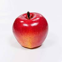 Декоративное яблоко румяное, красно-желтое, 7 х 7 см