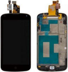 Дисплей с тачскрином LG E960 Nexus 4 черный в рамке