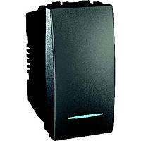 Выключатель одноклавишный с подсветкой 16А Schneider Electric Unica Графит (MGU3.161.12N)