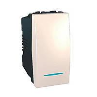 Выключатель одноклавишный с подсветкой 16А Schneider Electric Unica Слоновая Кость (MGU3.161.25N)