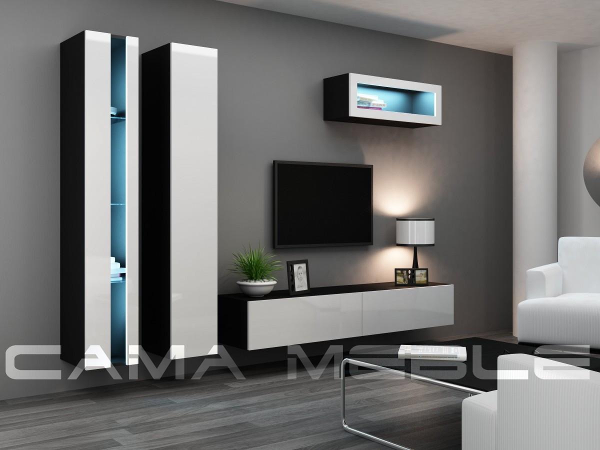 Гостиная Vigo NEW 2 Cama черный/белый глянец