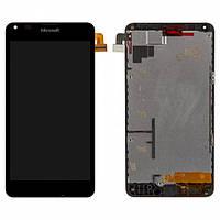 Дисплей (экран) для (Microsoft) Nokia 640 XL Lumia Dual Sim + с сенсором (тачскрином) и рамкой черный Оригинал