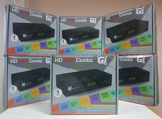 Спутниковый + эфирный цифровой Т2 приемник приставка тюнер GI HD Slim Combo