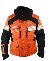 Мото куртка LEATT GPX W.E.C. черно-оранжевая водостойкая легкая курткая для эндуро/кросс