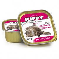 Паштет Kippy Cat для кошек с лососем, 100 г
