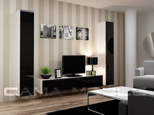 Гостиная Vigo IV Cama белый/черный глянец