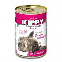 Паштет Kippy Cat для кошек с лососем, 400 г