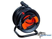 Удлинитель на катушке  25 м У16-01 ПВС (сечение провода 2х1.5 мм2) с выносной розеткой