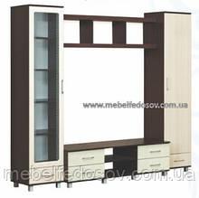 Набор мебели для гостиной 2 венге комби МДФ серия Уют  (Абсолют)