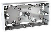 Монтажная коробка 2-местная Schneider Electric Unica Белый (MGU8.004.18)