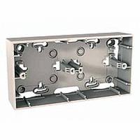 Монтажная коробка для наружной проводки 2-поста Unica basic & colors Schneider Слоновая Кость (MGU8.004.25)