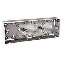 Монтажная коробка для наружной проводки 3-поста Schneider Electric Unica basic & colors Белый (MGU8.006.18)