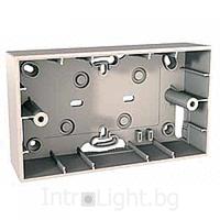 Монтажная коробка для наружной проводки 4-модуля Schneider Electric Unica Allegro Слоновая Кость (MGU8.104.25)