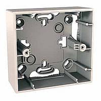 Монтажная коробка для наружной проводки Schneider Electric Unica Cлоновая Кость (MGU8.002.25)