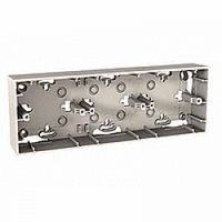 Монтажная коробка наружной для проводки 3-поста Unica basic & colors Schneider Слоновая Кость (MGU8.006.25)