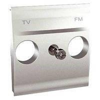 Накладка для TV/FM розетки 2 модуля Schneider Electric Unica Алюминий (MGU9.440.30)