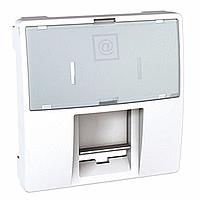 Накладка для компьютерной розетки AMP/KRONE 2-модуля Schneider Electric Unica Белый (MGU9.460.18)