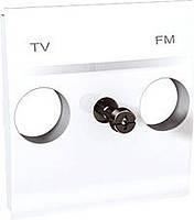 Накладка для TV/FM розетки 2 модуля Schneider Electric Unica Белый (MGU9.440.18)