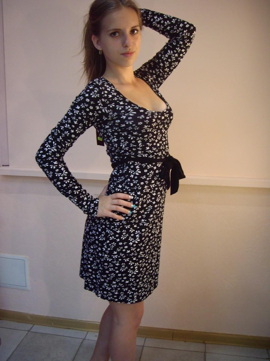 Женское платье  длинный рукав