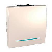 Переключатель одноклавишный с подсветкой Schneider Electric Unica Слоновая Кость (MGU3.263.25N)