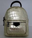 Сумка - рюкзак молодіжний. 100% натуральна шкіра! Чорний, фото 5