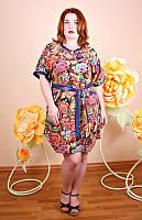 Платье-туника большого размера Венера платок, одежда для полных